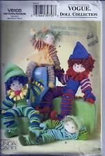 Vogue 8105 Sewing Pattern Fleece Circle Dolls - Linda Carr
