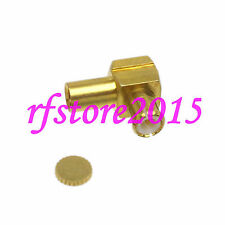 """1pce Connector MCX male plug solder RG405 0.086"""" cable RF COAXIAL Right angle"""