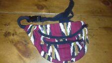Vintage Multi-Coloured/Red 3 Zip Bum Bag - Made In Guatemala - Unused