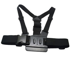 Chest Harness Adjustable Body Strap + J-Hook Compatible for GoPro HERO4 3+ 3 2 1