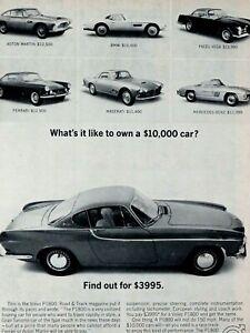 """1963 VOLVO P1800 Ferrari-Maserati-Facel Vega-Original Print Ad 8.5 x 11"""""""