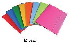 Set 12 Cartelline Portadocumenti Cartellina Molla Colorate Custodia Fogli A4 dfh