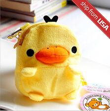 San-X Rilakkuma Kiiroitor Yellow Chick Soft Plush Coin Purse bag Card Case Cute