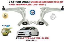 para HONDA CIVIC 2005-2012 2x Trapecio delantero inferior brazos de suspensión +