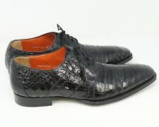 Mezlan Platinum Alligator Skin Oxford Dress Shoes Black US 10.5