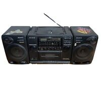 Sony CFD-510 AM/FM Stereo CD Cassette Boombox w/2-Way Mega Bass Speakers WORKS