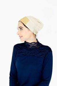 Fashionable Sparkle Front Under scarf Hijab Bonnet Cap