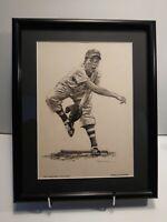 LITTLE LEAGUER print by Robert Riger - circa 1957 - Sports Illy - RARE - framed
