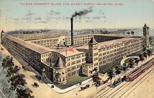 North Abington MA~Where Crossett Shoes Are Made~Passenger Train 1912 Postcard