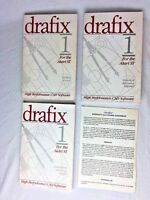 Vintage Lot of 3 Drafix CAD Books Guides Manual For The Atari, 1987