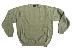 Izod Crewneck Sweatshirt Jumper Size XL Green Long Sleeve Pullover