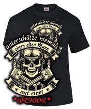 T-Shirt GPZ 900 R ALTER MANN MIT EINER Tuning Motorrad Kleidung Zubehör Biker