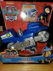 Paw Patrol Moto Pups CHASE Deluxe Motorcycle Pull Back Vehicle Toy & Figure NEW!
