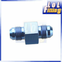"""AN-6 AN6 to AN6 Blue Male with 1/8"""" NPT Port Fuel Oil Pressure Gauge Adapter"""