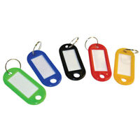 Cathedral Products KTS100 Standard Key Tags Assorted Colours (50 x 22 x 3)Pk 100
