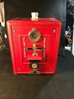 Early 20th Century Autocall Fire Alarm Box Unbroken Glass Station 7-4 Excellent
