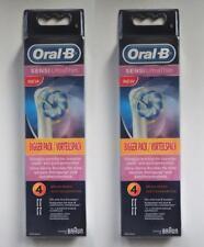 Braun Oral B Sensi Ultrathin Brossettes - 2x 4er Pack-Neuf & neuf dans sa boîte - 8 pièces