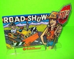 Road Show Pinball Plastic Display Original Ted On Dozer Sexy Lady Red In Shorts