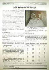 ASBESTOS Millboard Paper Roll Board Insulation JOHNS-MANVILLE 1951