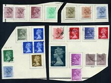 Lot of 50 stamps, Uk, 1980-83 Scott 887A-903, 969-982, Complete Sets