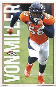 Von Miller Denver Broncos 2019 NFL Football WALL POSTER New Super Bowl MVP