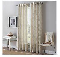 "PeriHome Herringbone One (1) Linen Grommet 84"" Window Curtain Panel BEAUTIFUL!!!"