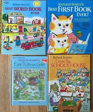 Lot 4 Richard Scarry HB Books Best First Book Ever Word Great Big Schoolhouse