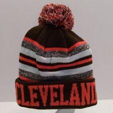 Toque / Beanie / Winter, Pom Pom, Hat / Cap: Brown, Orange, White, Cleveland