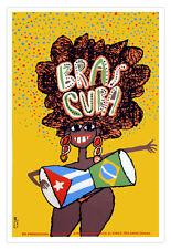 Cuban movie Poster 4 Cuba film.Brazil.CONGA girl.art.Brasileira Rumba Dancer