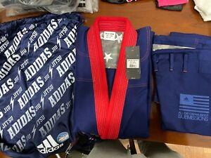 adidas Stars & Stripes Jiu Jitsu Gi A1 Navy Blue w/ Gi Bag