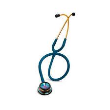 "3M 2823 Littmann Classic II SE Stethoscope 28"" Caribbean Blue Rainbow Chestpiece"