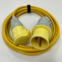 16amp Socket  - 32a Plug Arctic Yellow 110v Jumper Adaptor Generator Site Lead