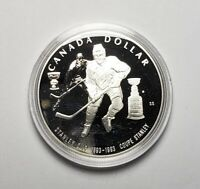 Canada 1993 Stanley Cup Hockey .925 Sterling Silver $1.00 One Dollar Coin Proof