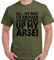 Biker T-Shirt Sell My Bike Mens Funny Motorbike Superbike Moto GP Motorcycle
