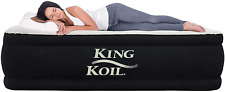 King Koil Twin Air Mattress with Built-in Pump - Double High Elevated Raised Air