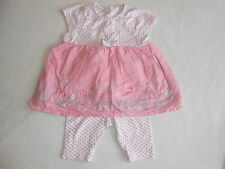 Baby Girls Clothes Newborn - Pretty Pink Bunny  Outfit - Dress & Leggings