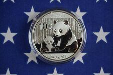 2012 China Panda Bu 1oz .999 Fine Solid Silver Bullion Collectors coin + Capsule