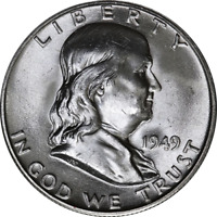 1949-D Franklin Half Dollar Nice BU - STOCK