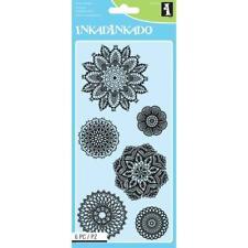Inkadinkado Clear Acrylic Stamps Decorative Doilies 60-31316