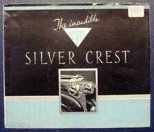 ALVIS 'SILVER CREST' CAR SALES BROCHURE 1939.