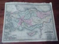 "Antique Mitchell Map ""Asia Minor"" copyright 1844"