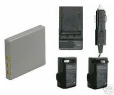 Battery + Charger for Sanyo VPC-E870 VPC-E760 VPCE760