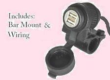 Waterproof Motorcycle 12v USB Charging Socket  Phone Intercom Sat Nav GPS MP3