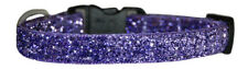 "handmade  purple sparkle micro  chihuahua dog/puppy collar 6"" 8"" xs fabric"