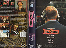 QUIZ SHOW-Ralph Feines-VHS PAL NEW Never played! VERY RARE! -Original Oz release