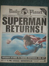 SUPERMAN RETURNS! DAILY PLANET PROMO PROP NEWSPAPER LIMITED EDITION