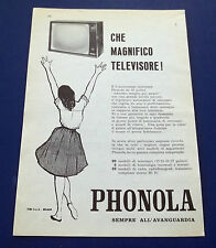 A603-Advertising Pubblicità-1960-PHONOLA TELEVISORI