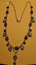 BLUE CAT FACE BEADS PENDANT NECKLACE Blues FREE SHIPPING!