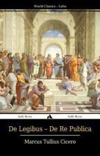 De Legibus - de Re Publica by Marcus Tullius Cicero (2014, Paperback)