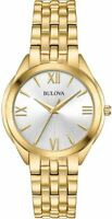 Bulova 32.5mm Woman's Classic Water-resistant 30M Quartz Watch, Gold